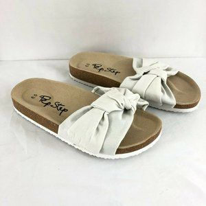 Pep Step Womens Sandals Slides Footbed Fabric Bow